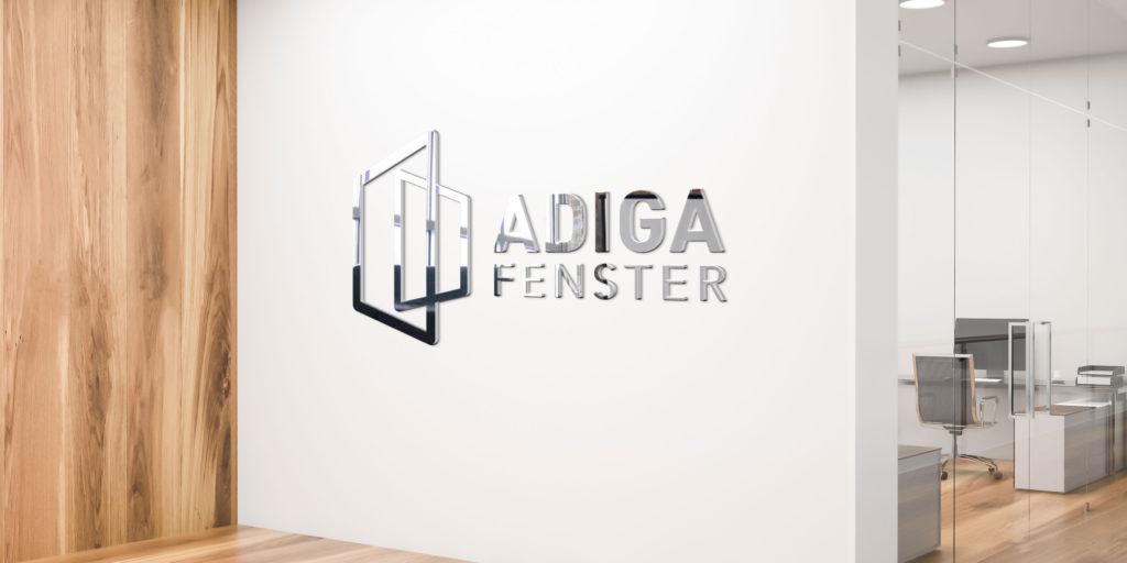 Logoentwicklung Adiga-Fenster