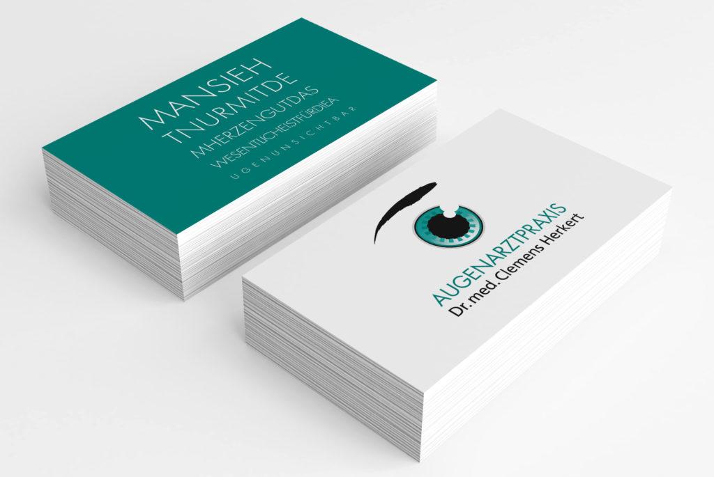 Corporate Design für Augenarztpraxis Dr. Herkert